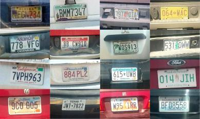 Licence Plate Collage