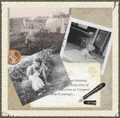 Postcard Collage - Textured